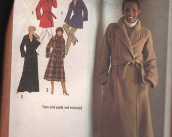 Simplicity9183 Misses' Lined Wrap-Coat in Three Lengths and Tie Belt  Sewing Pattern  ID595