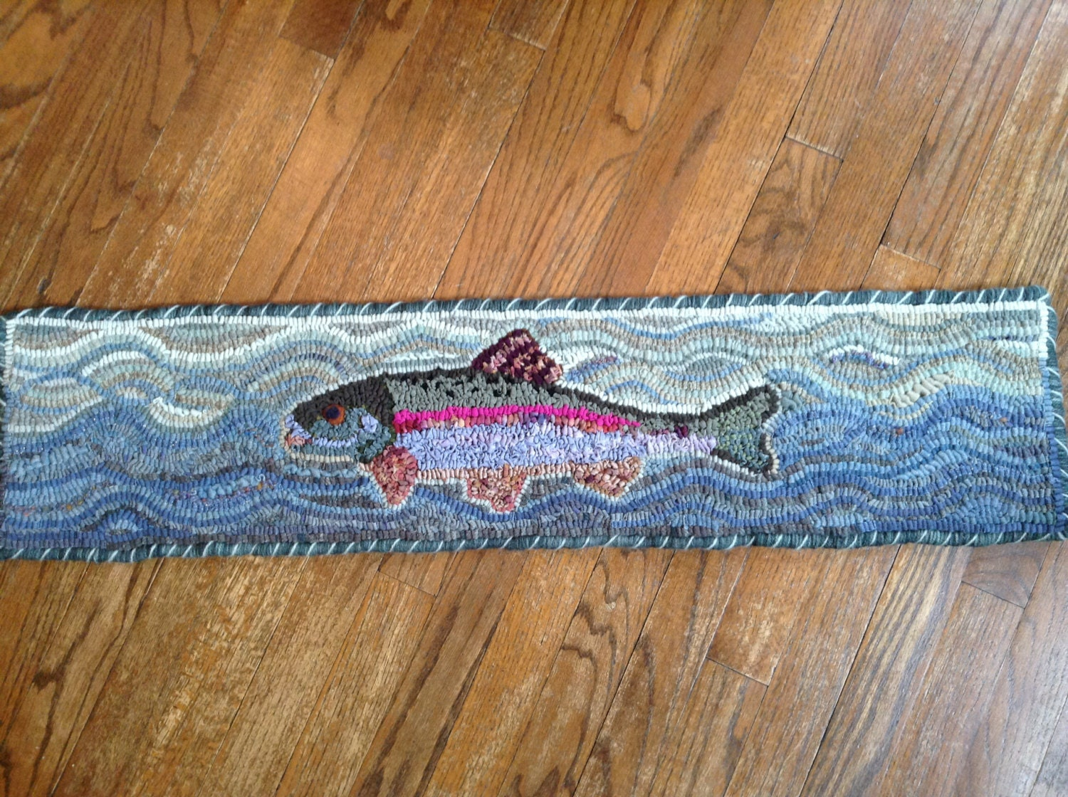 Rainbow Trout Rug Hooking/Punch Needle Pattern appr.36