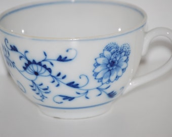 Meissen German Made Delicate Teacup with Hand Painted Details