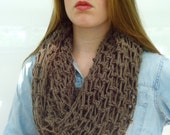 Crochet Stitches Loose : Items similar to Crochet Infinity Loose Stitch Handmade Scarf on Etsy