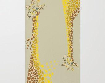 Geometric Giraffes Floor Rug
