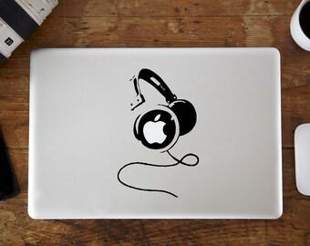 Big Headphones MacBook Decal
