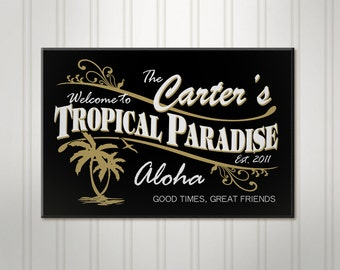 Personalized Tiki Bar Sign, ManCave Pub Sign, Beer Sign, Man Cave Sign, Personalized Sign, Personalized Bar Decor