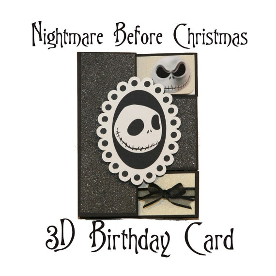 Snap Items Similar To The Nightmare Before Christmas Card Jack And