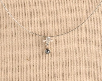 Jewelry Necklace Sterling silver Necklace Gemstone necklace  Dainty necklace  Tender  necklace