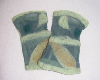 wristlet - cuff - felted with silk and merino