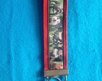 Pit Bull wristlet key fob keychain