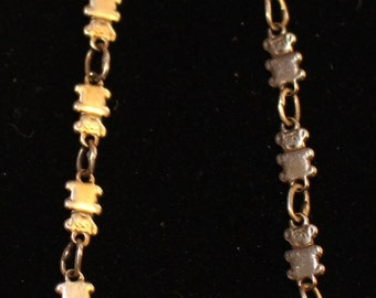 Sterling Silver Teddy Bear Childs Bracelet