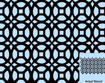 Wall Stencil, Plaster Stencil, Furniture Stencil, Jasmina Repeating Moroccan Stencil