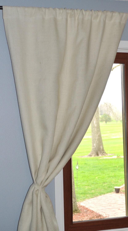 White Burlap Curtains 28 Images Pair Full Length White Burlap Curtain Panels Mid Century