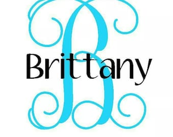 Name and Initial Vinyl Decal