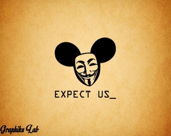 Anonymous Decal Anon Y Mous Expect Us Vinyl Decal