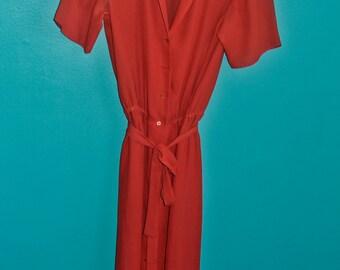 1970's Red Lounge Dress