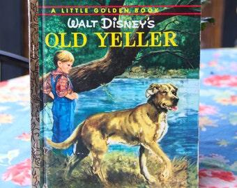 Vintage Little Golden Book  OLD Yeller 1974 Hard Back