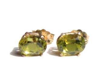 Oval Peridot Earrings (1512)