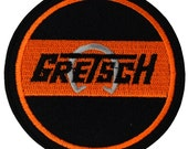 Gretsch Guitar Music band Logo Embroidered Iron Patches