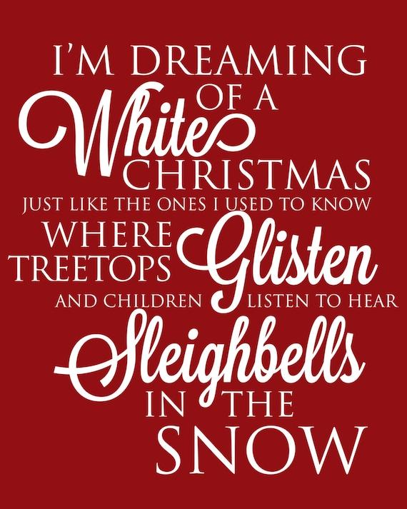 Items similar to christmas printable art with christmas for Who wrote the song white christmas