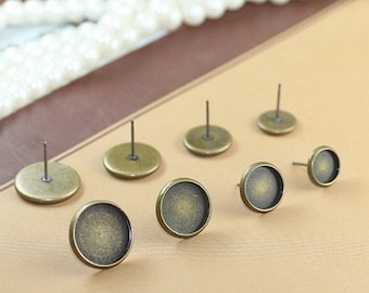 50pcs Antique bronze ear stud,Ear Clip , Ear Hook ,Ear Wire,Jewelry findings Xf06236