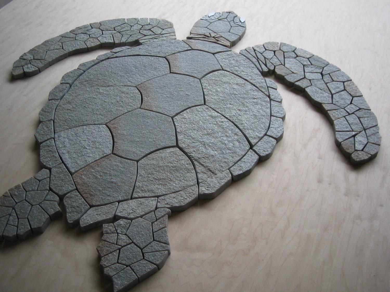 Idaho Quartzite Hawaiian Sea Turtle Mosaic