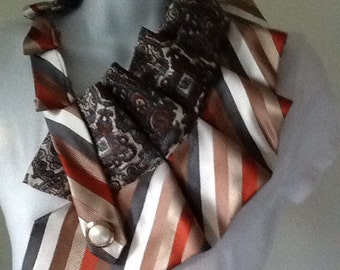 Upcycled men's necktie scarf