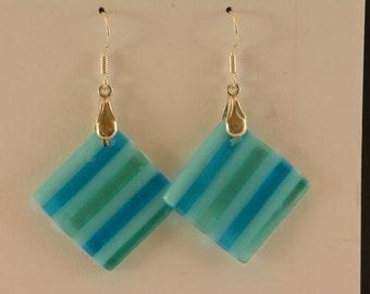 dangly glass earrings