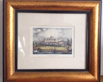 Vintage Framed Print Of Winsdor Castle From Clewer Fields
