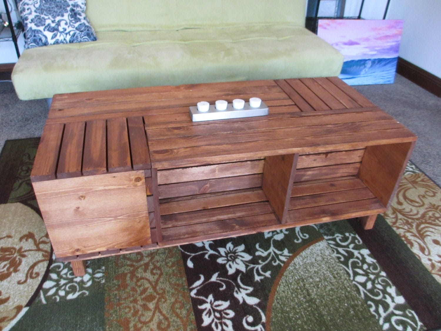 Custom Made Crate Coffee Table By Beachsidecustoms On Etsy
