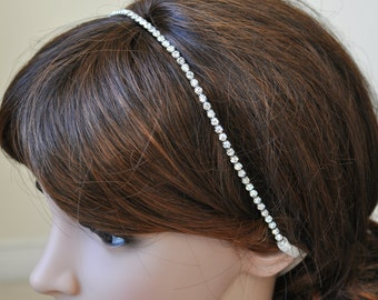Wedding headpiece, headband, KELLY, Rhinestone Headband, Wedding Headband, Bridal Headband, Bridal Headpiece, Rhinestone