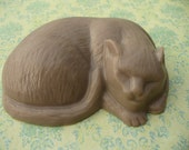 Chocolate Sleeping Cat Soaps - handmade goatsmilk & olive oil glycerin soap - skin loving and gentle