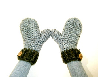 CROCHET MITTENS PATTERN, Crochet Pattern, Crochet Mittens, Crochet Gloves Pattern, Womens Mittens, Instant Download - The Lucie Mittens