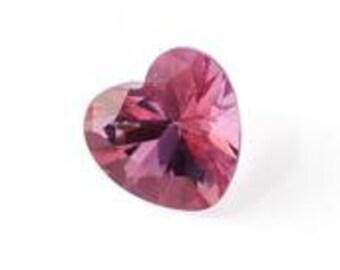 Pink Topaz Loose Gemstone Heart Cut 1A Quality 8mm TGW 2.15 cts.