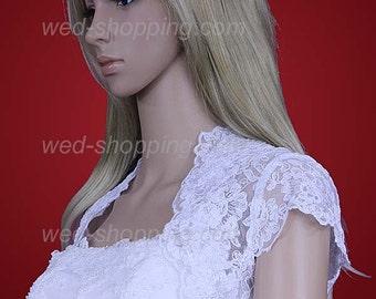 Bridal Lace bolero Short sleeved  for Wedding E1201
