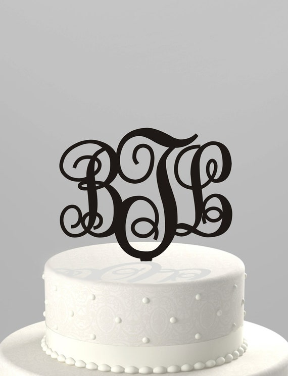 wedding cake topper monogram initials wedding cake topper couples monogram initials or birthday 8808