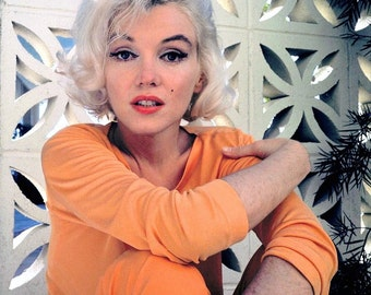 COOL RARE Marilyn Monroe in her Hollywood Home - 50s 60s - Photo Picture Poster