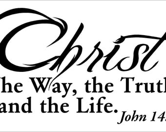Christ The Way, the Truth, and the Life Car Decal