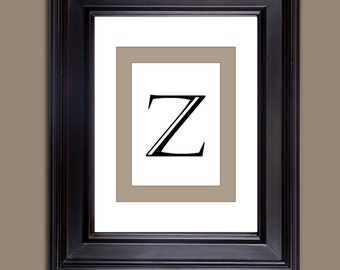 letter prints - monogram prints - digital download - letter Z 10 x 8 and 11 x 14