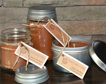 COWBOY UP Maple Creek Candles ~ Leather Scent ~ Soy Wax Blend, 3 sizes, Fun Rustic Lid
