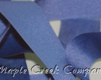 "5 yards Smoke Blue Grosgrain Ribbon, 4 Widths Available: 1 1/2"", 7/8"", 5/8"", 3/8"""