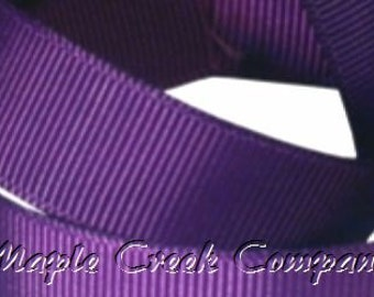 "5 yards Purple Grosgrain Ribbon, 4 Widths Available: 1 1/2"", 7/8"", 5/8"", 3/8"""