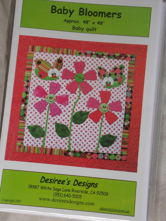 Quilt Pattern : Baby Bloomers Baby Quilt Desiree's Designs. flowers ...