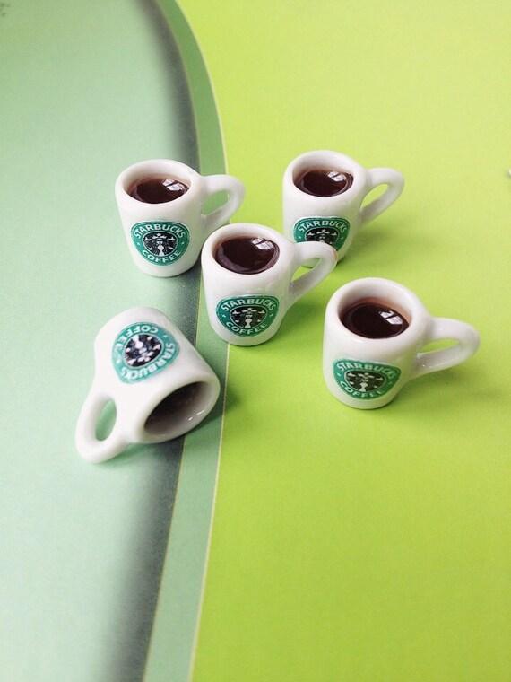 Miniature Starbuck Coffee,Miniature Starbucks,Miniature Mug,Dollhouse Starbucks,Dollhouse Coffee,Dollhouse mug,Starbuck Jewelry,Starbucks