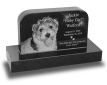 Standard Upright Pet Headstone Grave Marker (Small) for Dogs & Cats