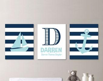 Baby Boy Nursery Art. Boy Bedroom Art. Nautical Nursery Decor. Nautical Nursery Print. Nautical Nursery Art. Bedroom Nautical. Canvas. NS578