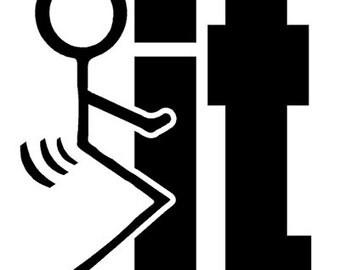 F-It Decal - Outdoor Vinyl