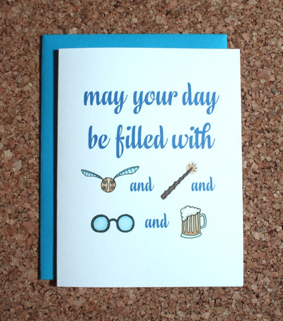 Inventive image inside free printable harry potter birthday cards