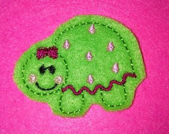 Set of 4 Girly Turtle Animal Feltie Felt Embellishment Bow!
