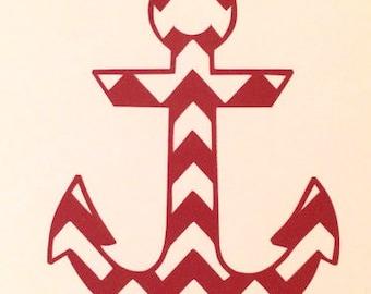 Chevron Anchor Vinyl Decal