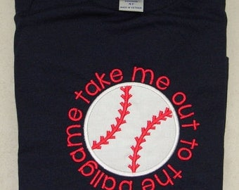 BOY - Take Me Out to the Ballgame - Appliqued Shirt - Cute Sayings - Baseball - Summer - Sports