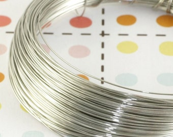 27 metres of Copper Craft Wire - 0.4mm - Silver - JR07673