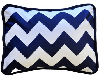 Zig Zag Baby in Navy Throw Pillow